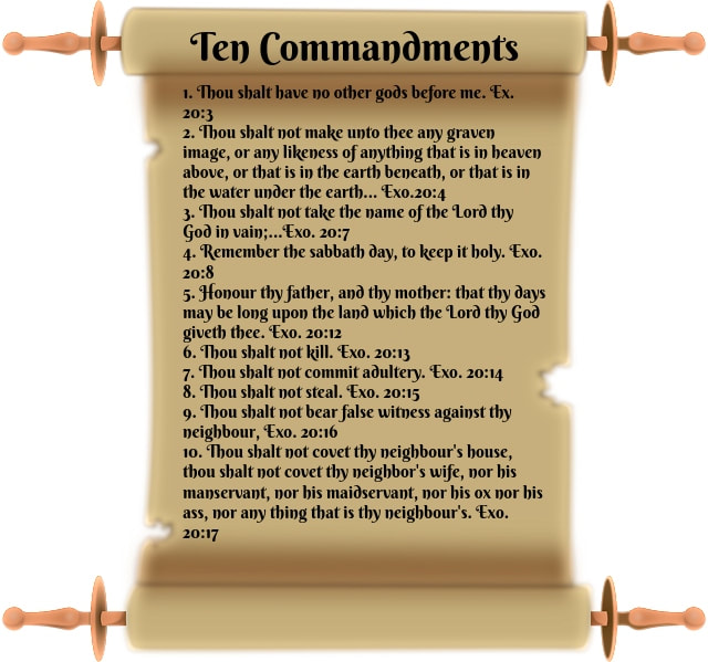 image relating to Ten Commandments Printable identified as 10 Commandments-Cost-free, Printable Scroll Image: LTLFM - Take pleasure in